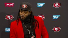 Sherman: 'The team that wanted me is the team whose logo I'm wearing'