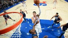 NBA: Timberwolves 108, 76ers 120