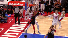 Must See: DeRozan goes end-to-end for vicious two-handed dunk