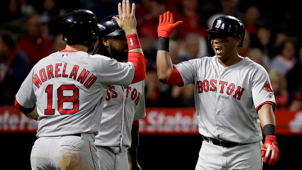 MLB: Red Sox 9, Angels 0