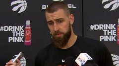 Valanciunas says Raptors can't change anything on the road