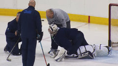 Jets Myers on the ice for morning skate; Mason leaves injured