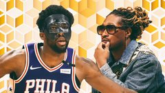 Embiid's mask on, mask off night in Miami