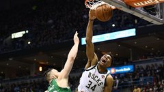Giannis gets revenge on Baynes with poster dunk