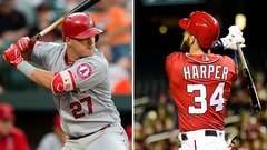 Trout and Harper dominate in April