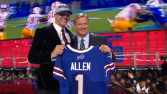 Bills trade up, select QB Allen at number seven