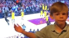 Must See: Kid calls game on LeBron's shot