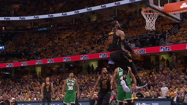 Must See: LeBron throws down reverse windmill