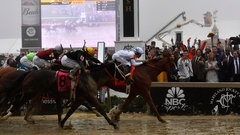 Must See: Justify claims second leg of the Triple Crown