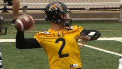Manziel takes the field for the first time as a Tiger-Cat