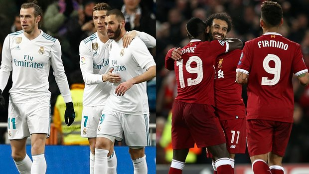 Liverpool and Real Madrid's star-studded attacks