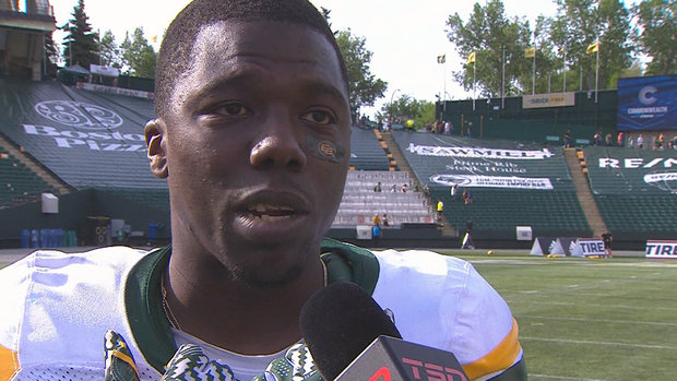 Cooper happy to contribute to Eskimos win in first taste of CFL action