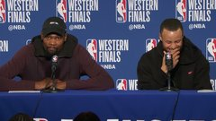 Must See: KD, Steph dodge question about '16 playoff in OKC