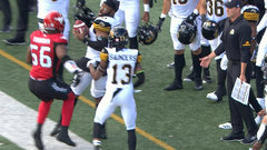CFL Must See: Lawrence mistakenly denies teammate a catch from sideline