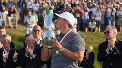 Koepka accepts his second straight U.S. Open trophy