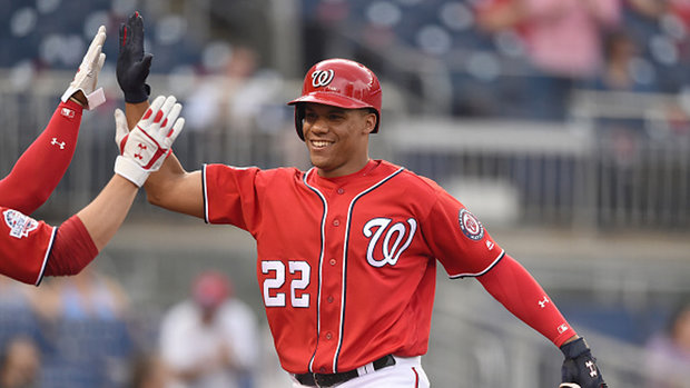 Nats' Soto goes back in time, homers before MLB debut in resumed game win