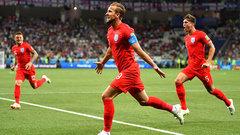 Kane pounces on rebound to fire England into the lead