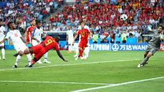 De Bruyne finds a diving Lukaku for Belgium goal