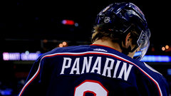 Why is Panarin hesitant to sign an extension in Columbus?