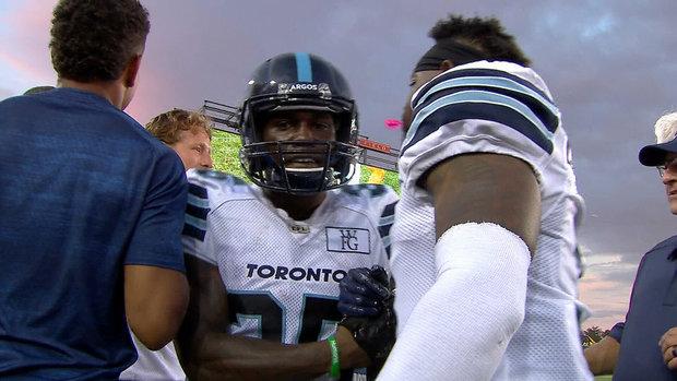 Must See: Burks scores improbable Argos' touchdown