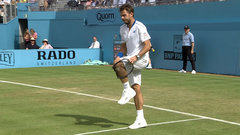 Must See: Wawrinka destroys racquet and court
