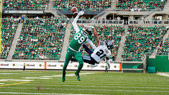 How will the Redblacks pick on Carter on defence?