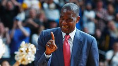Celebrating Mutombo's famous finger wag