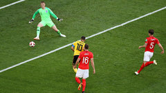 Hazard scores insurance goal for Belgium in 82nd minute