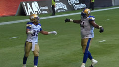 The Bombers double their lead on Harris' second touchdown