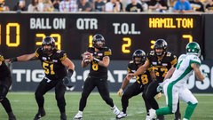 CFL: Roughriders 31, Tiger-Cats 20