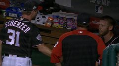 Must See: Strasburg gets in heated exchange with Scherzer in the dugout
