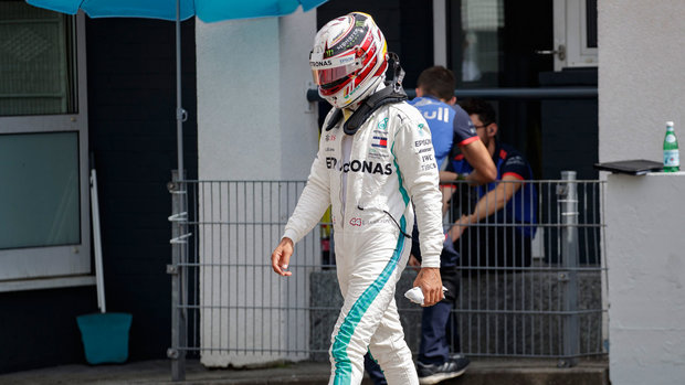 Tough day at German GP for Hamilton, Mercedes