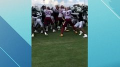 Must See: Fight breaks out between Jets and Redskins