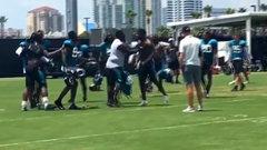 Trouble at Jaguars practice