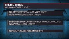 The Big Three: Trump sidelines Canada; Ensign offers to buy Trinidad; Turkey turmoil