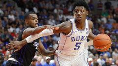 Barrett nets 34 points against Ryerson in Duke debut