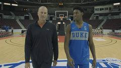 Duke's R.J. Barrett answers tough questions in 94 feet.