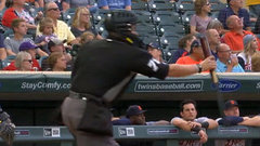 Must See: Umpire catches Castellanos' bat flip with one hand