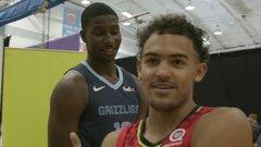 NBA rookies hammer dunks, prank each other at photo shoot