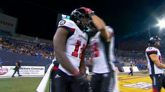 Harris airs it out for Rhymes as the Redblacks answer back