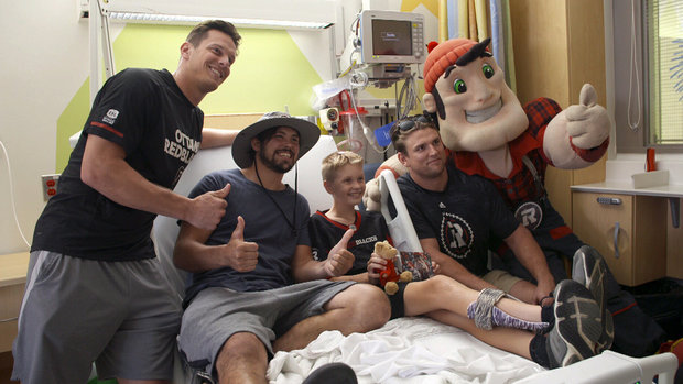 Redblacks draw inspiration from one of their bravest young fans