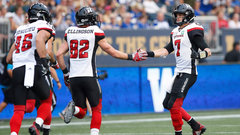 CFL: Redblacks 44, Blue Bombers 21