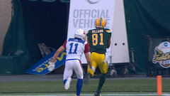 CFL In-Game: Williams brings in Reilly's pass for Eskimos TD