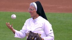 Must See: Nun dazzles with first-pitch curveball