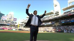 Hoffman honoured, given statue