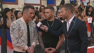 Colton Haynes and Gus Kenworth Arrive On The Red Carpet | 2018 iHeartRadio MMVA Red Carpet