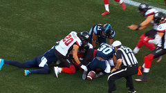 CFL Must See: Cioffi recovers loose ball in crazy end-zone scramble