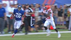 Barkley rushes 39 yards for first NFL carry