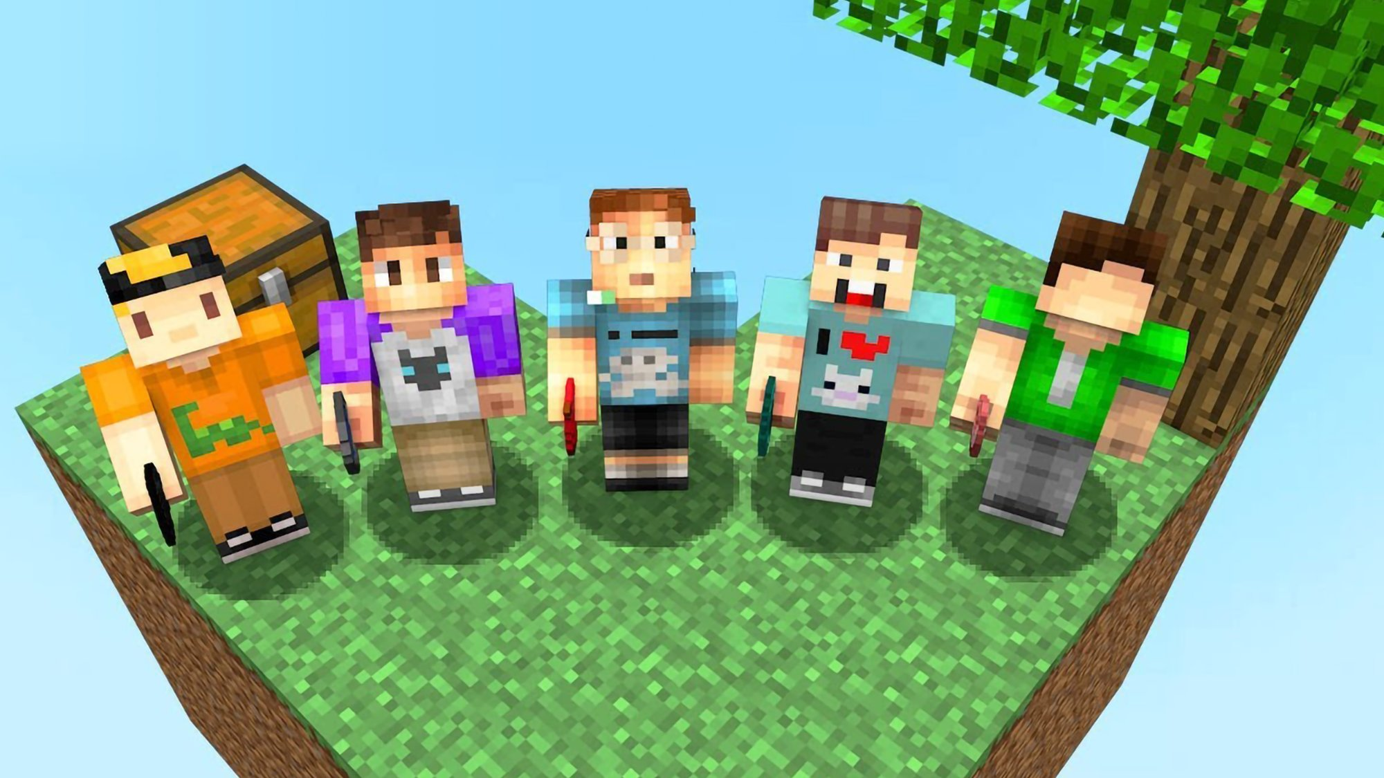The Pals Play Minecraft