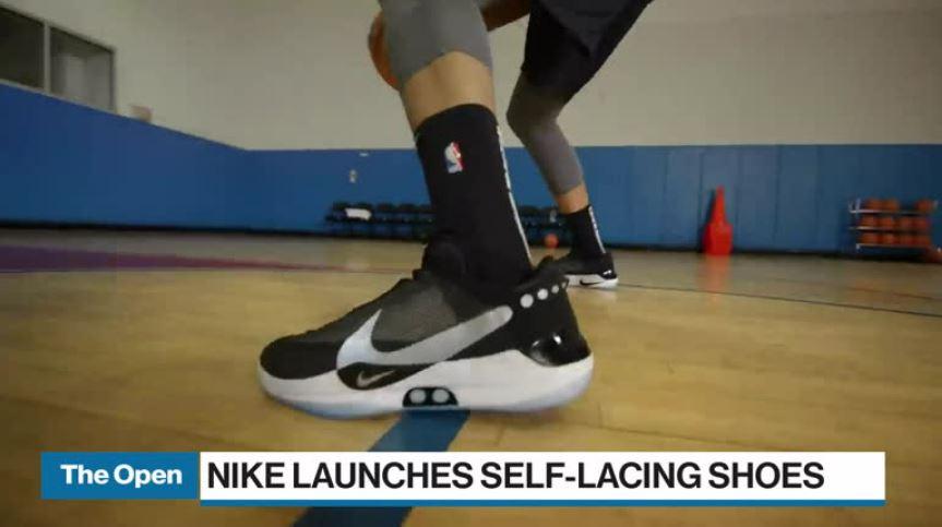 Nike to debut self lacing shoe at Raptors game Video BNN